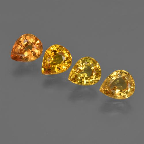 Yellow Golden Sapphire Gem - 0.7ct Pear Facet (ID: 421835)