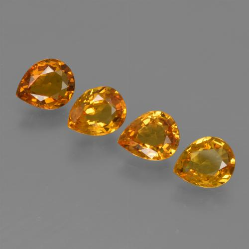 Medium Orange Sapphire Gem - 0.7ct Pear Facet (ID: 421846)