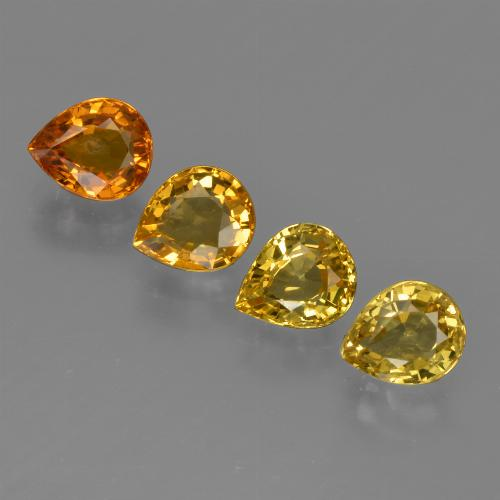 Yellow Golden Sapphire Gem - 0.9ct Pear Facet (ID: 421849)