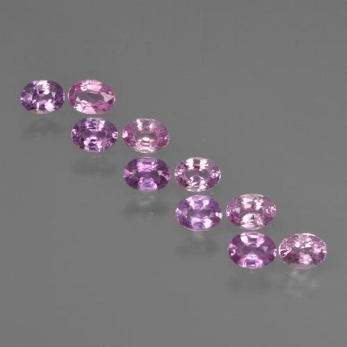 Purple Pink Sapphire Gem - 0.2ct Oval Facet (ID: 421912)