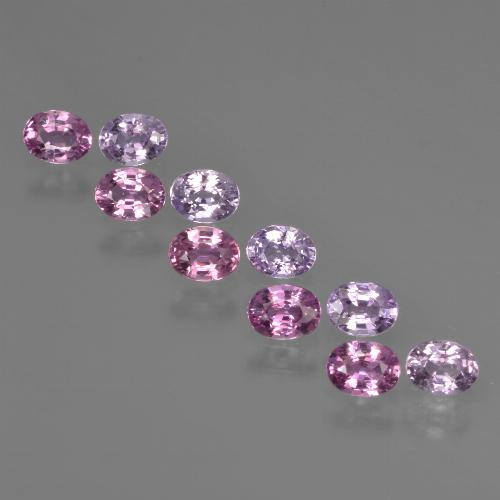 Purple Pink Sapphire Gem - 0.2ct Oval Facet (ID: 421914)