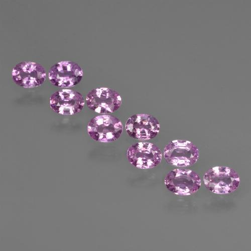 Purple Pink Sapphire Gem - 0.2ct Oval Facet (ID: 421915)