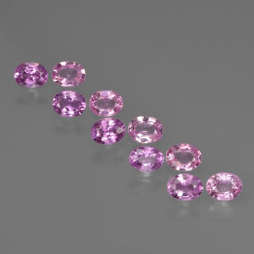 Purple Pink Sapphire Gem - 0.2ct Oval Facet (ID: 421916)