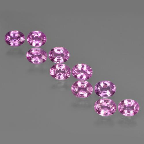 Purple Pink Sapphire Gem - 0.3ct Oval Facet (ID: 421917)