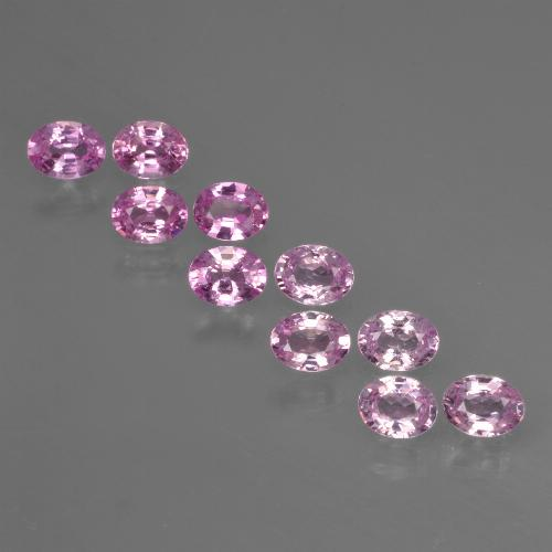 Purple Pink Sapphire Gem - 0.2ct Oval Facet (ID: 421918)