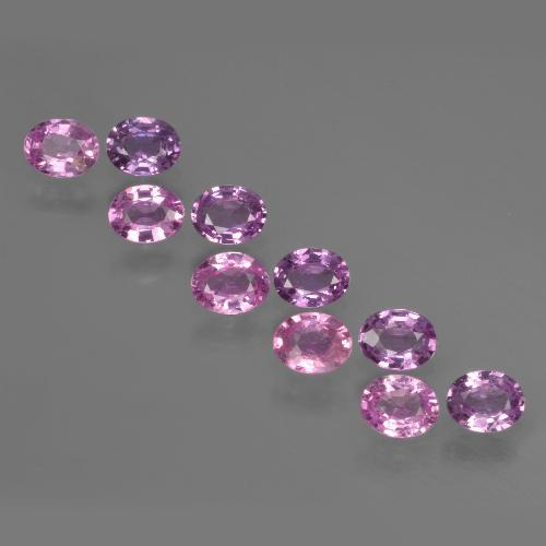 Purple Pink Sapphire Gem - 0.3ct Oval Facet (ID: 421921)