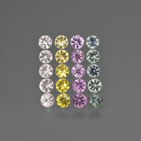 Multicolor Sapphire Gem - 0.1ct Diamond-Cut (ID: 421958)