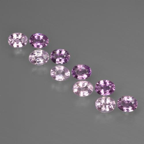 Purple Pink Sapphire Gem - 0.2ct Oval Facet (ID: 421981)