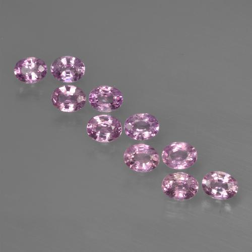 Purple Pink Sapphire Gem - 0.2ct Oval Facet (ID: 421987)
