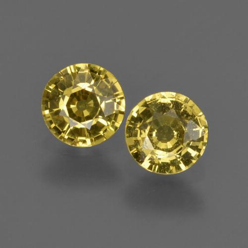Yellow Sapphire Gem - 0.4ct Round Facet (ID: 422025)