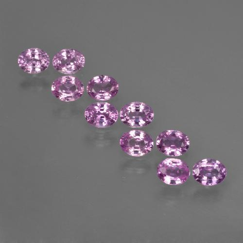 Purple Pink Sapphire Gem - 0.3ct Oval Facet (ID: 422048)