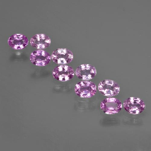 Purple Pink Sapphire Gem - 0.2ct Oval Facet (ID: 422051)