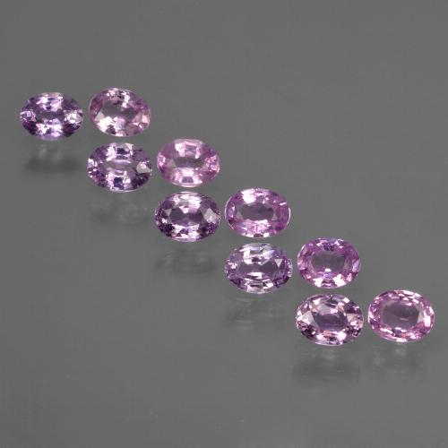 Purple Pink Sapphire Gem - 0.2ct Oval Facet (ID: 422053)