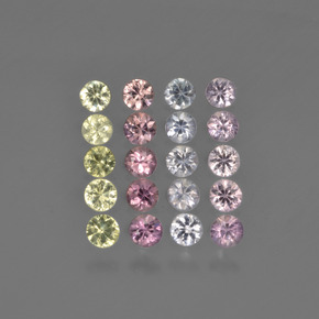 Multicolor Sapphire Gem - 0.1ct Diamond-Cut (ID: 422240)