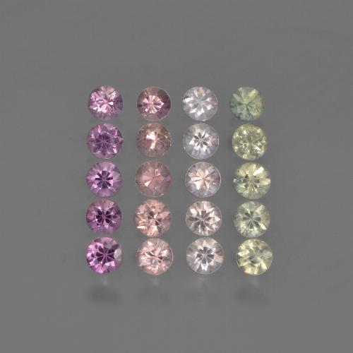 Multicolor Sapphire Gem - 0.1ct Diamond-Cut (ID: 422242)