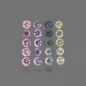 Multicolor Sapphire Gem - 0.1ct Diamond-Cut (ID: 422247)