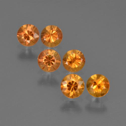 Deep Orange Sapphire Gem - 0.2ct Diamond-Cut (ID: 422509)