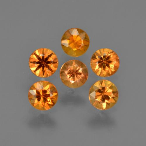 Deep Orange-Gold Zafiro Gema - 0.2ct Corte Diamante (ID: 422805)