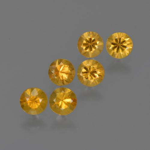 Yellow Golden Sapphire Gem - 0.2ct Diamond-Cut (ID: 422857)