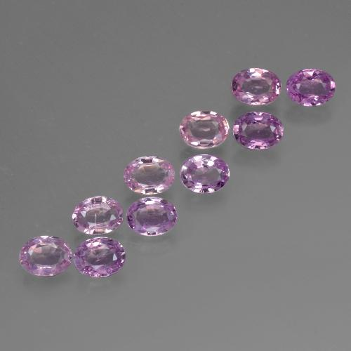 Purple Pink Sapphire Gem - 0.2ct Oval Facet (ID: 423163)