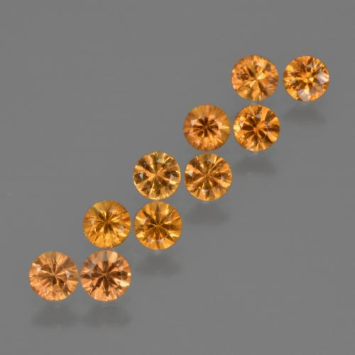 Yellow Orange Sapphire Gem - 0.2ct Diamond-Cut (ID: 423223)