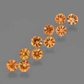 Yellow Orange Sapphire Gem - 0.2ct Diamond-Cut (ID: 423225)
