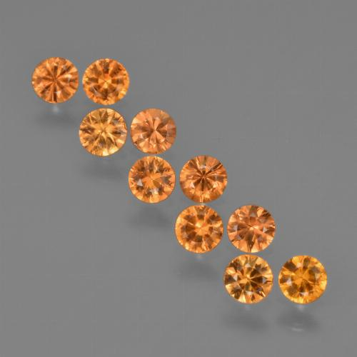 Yellow Orange Sapphire Gem - 0.2ct Diamond-Cut (ID: 423281)