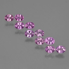 Purple Pink Sapphire Gem - 0.3ct Oval Facet (ID: 423437)