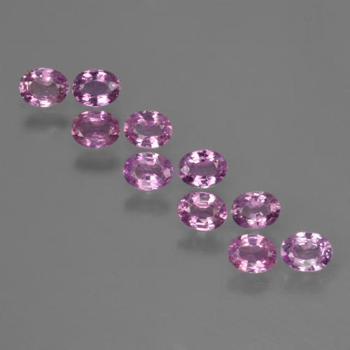 Purple Pink Sapphire Gem - 0.2ct Oval Facet (ID: 423441)