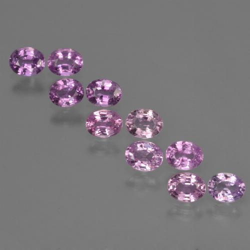 Purple Pink Sapphire Gem - 0.3ct Oval Facet (ID: 423442)