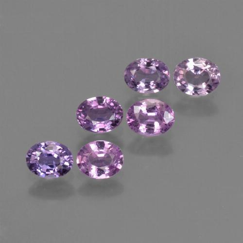 Purple Pink Sapphire Gem - 0.3ct Oval Facet (ID: 423578)