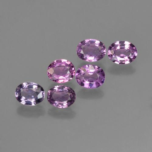 Purple Pink Sapphire Gem - 0.3ct Oval Facet (ID: 423579)