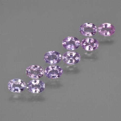Purple Pink Sapphire Gem - 0.2ct Oval Facet (ID: 423584)