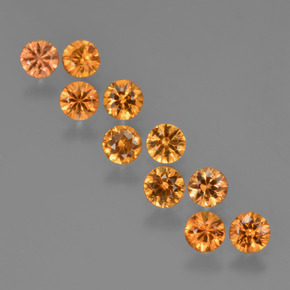0.2ct Diamond-Cut Yellow Orange Sapphire Gem (ID: 423593)