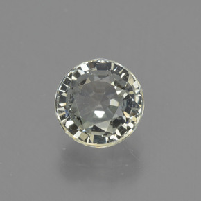 Near Colorless Sapphire Gem - 1.1ct Round Facet (ID: 423714)