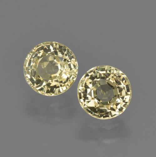 Yellow Sapphire Gem - 0.7ct Round Facet (ID: 423726)