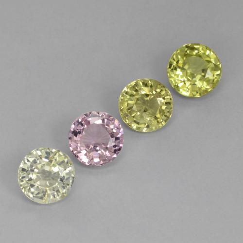 Yellow Golden Sapphire Gem - 0.7ct Round Facet (ID: 423814)