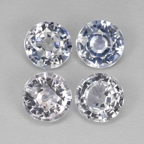 Light Blue Sapphire Gem - 0.9ct Round Facet (ID: 423845)