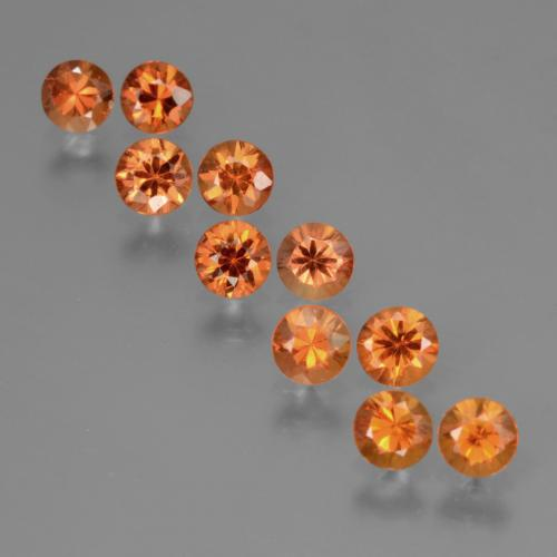 Orange Sapphire Gem - 0.3ct Diamond-Cut (ID: 423866)