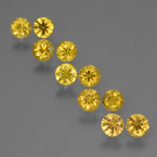 Honey Yellow Sapphire Gem - 0.3ct Diamond-Cut (ID: 423869)