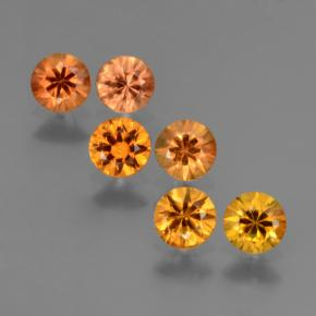 Orange Sapphire Gem - 0.3ct Diamond-Cut (ID: 423977)