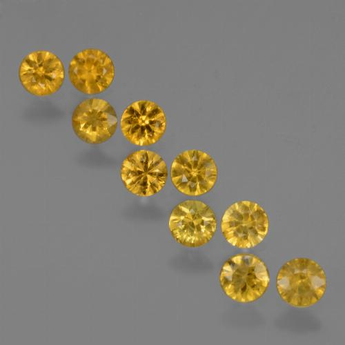 Yellow Golden Sapphire Gem - 0.2ct Diamond-Cut (ID: 423990)