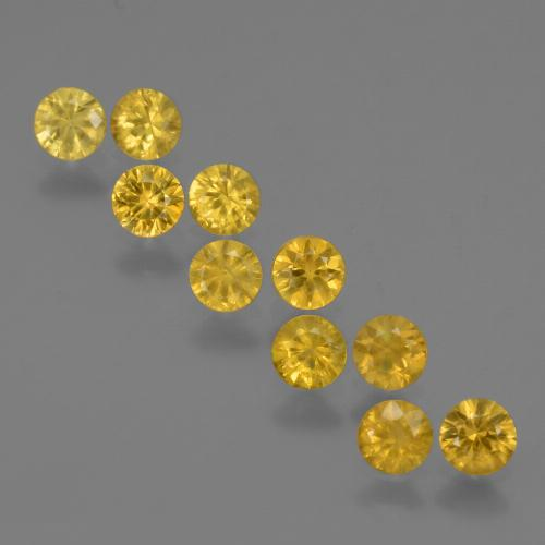 Yellow Golden Sapphire Gem - 0.2ct Diamond-Cut (ID: 423997)