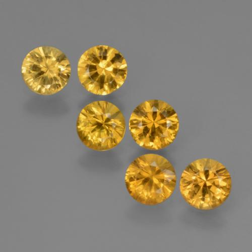 Yellow Golden Sapphire Gem - 0.4ct Diamond-Cut (ID: 424000)