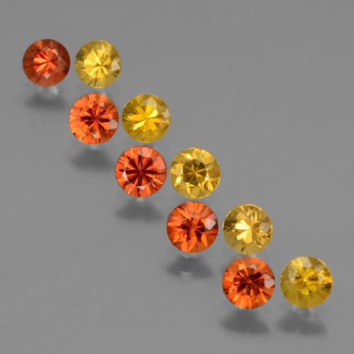 Yellow Orange Sapphire Gem - 0.3ct Diamond-Cut (ID: 424028)
