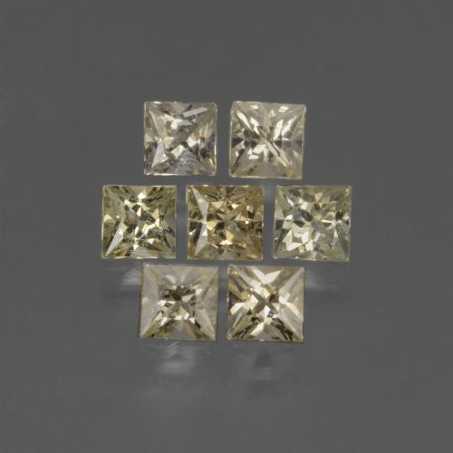Light Yellow Sapphire Gem - 0.3ct Princess-Cut (ID: 424242)