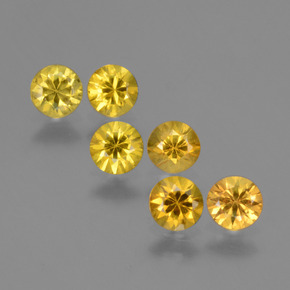 Yellow Golden Sapphire Gem - 0.3ct Diamond-Cut (ID: 424286)