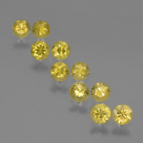 Autumn Yellow Zafiro Gema - 0.2ct Corte Diamante (ID: 424296)