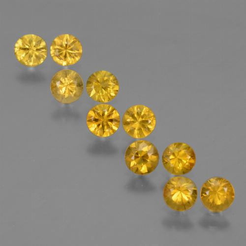 Yellow Golden Sapphire Gem - 0.2ct Diamond-Cut (ID: 424297)