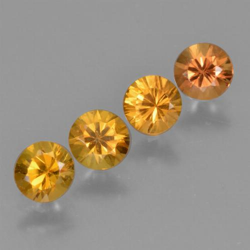 Yellow Orange Sapphire Gem - 0.4ct Diamond-Cut (ID: 424419)